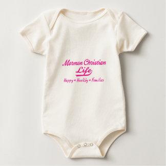 Mormon Christian Life, Happy Healthy Families Baby Bodysuit