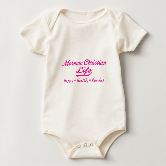 Mormon Christian Life, Happy Healthy Families Baby Bodysuit