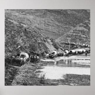 Mormon Emigrant Conestoga Caravan 1879 - To Utah Print