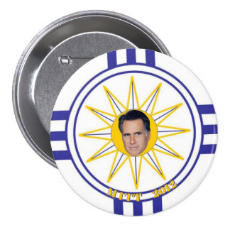 Mormon Flag: Mitt Romney 2012 Pinback Button