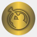 Mormon Gold Round Stickers