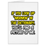Mormon In Dictionary...My Picture Greeting Card