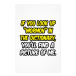 Mormon In Dictionary...My Picture Customized Stationery