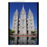 Mormon (LDS) Temple  in Salt Lake City, Utah Greeting Card