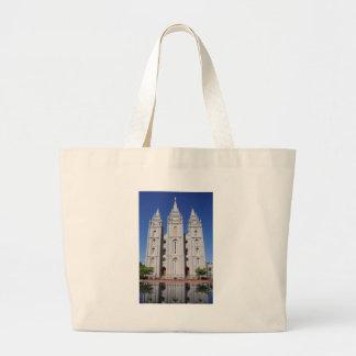 Mormon (LDS) Temple  in Salt Lake City, Utah Jumbo Tote Bag