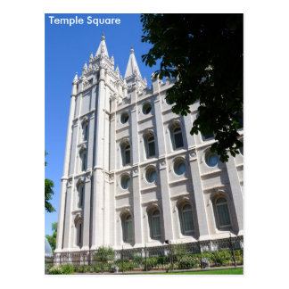 Mormon (LDS) Temple  in Salt Lake City, Utah Postcard