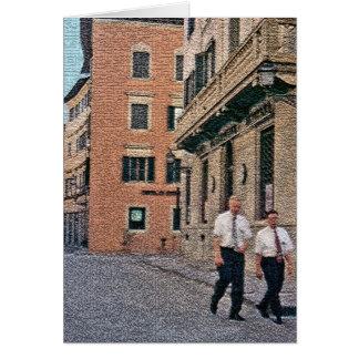 Mormon Missionaries Greeting Card