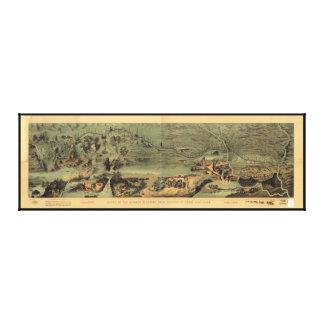 Mormon Pioneers Map Nauvoo to Great Salt Lake 1846 Canvas Print