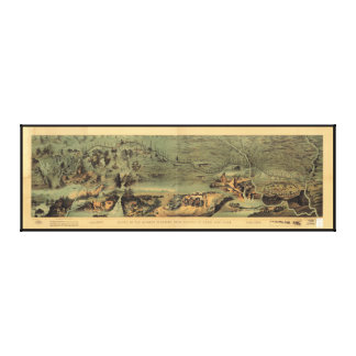 Mormon Pioneers Map Nauvoo to Great Salt Lake 1846 Canvas Print