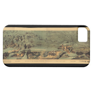 Mormon Pioneers Map Nauvoo to Great Salt Lake 1846 iPhone 5 Covers