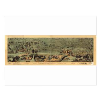 Mormon Pioneers Map Nauvoo to Great Salt Lake 1846 Postcard