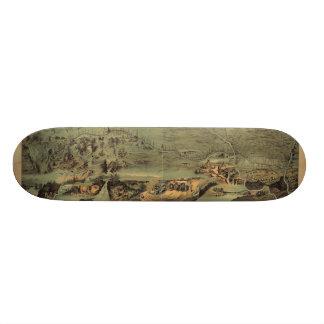 Mormon Pioneers Map Nauvoo to Great Salt Lake 1846 Custom Skateboard