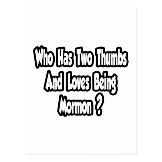 Mormon Pride Joke...Two Thumbs Postcard