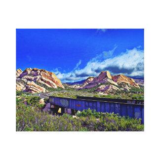 Mormon Rocks Canvas Print