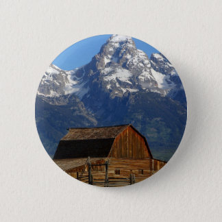 Mormon Row Barn Grand Teton National Park Button