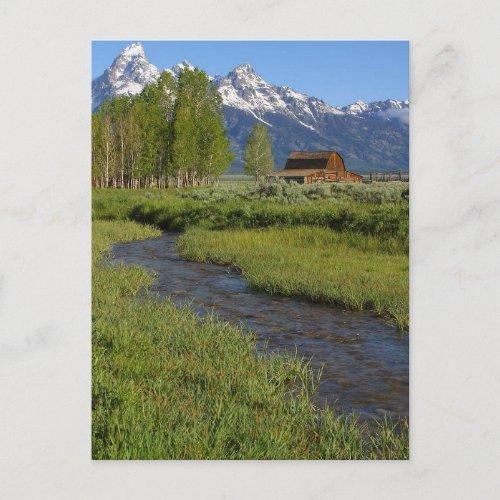 Mormon Row Barn Post Card postcard
