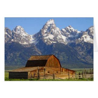 Mormon Row Barn with Teton Range Card