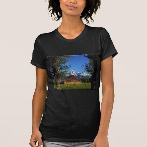 Mormon Row Barns Grand Tetons Tee Shirt