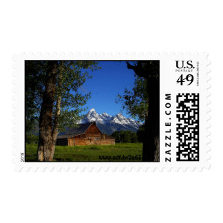 Mormon Row Barns in Grand Teton National Park, ... Postage