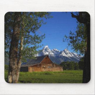 Mormon Row Barns In Grand Teton Park Mouse Pad