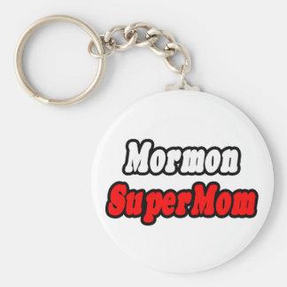 Mormon SuperMom Basic Round Button Keychain
