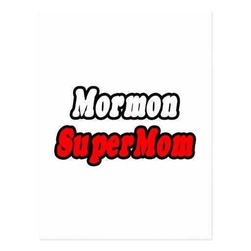 Mormon SuperMom Postcard