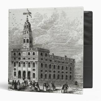 Mormon Temple at Salt Lake, 1854 3 Ring Binder