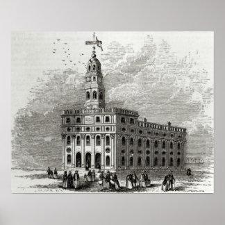 Mormon Temple at Salt Lake, 1854 Poster