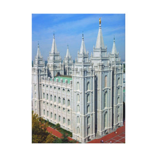 Mormon Temple Canvas Print