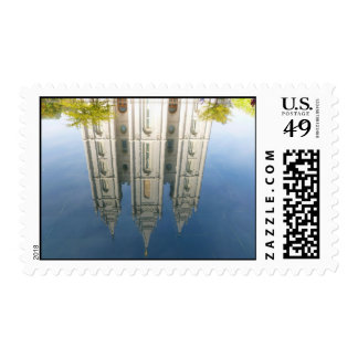 Mormon Temple Reflection Postage