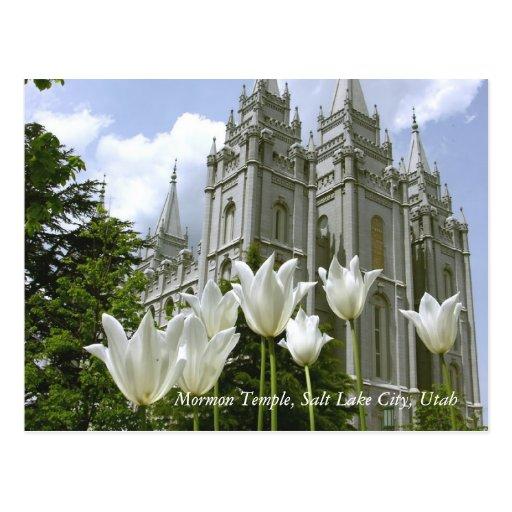 Mormon Temple, Salt Lake City, Utah Post Cards