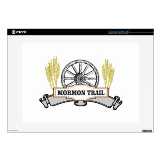 mormon trail art decals for laptops