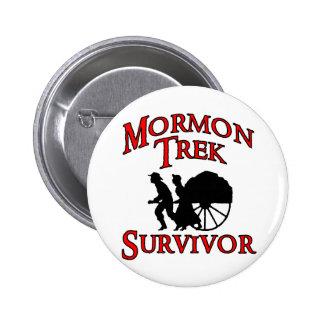 mormon trek survivor 2 inch round button