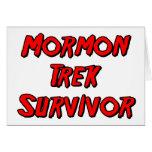 Mormon Trek Survivor Greeting Card