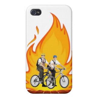 Mormones en el caso de Iphone 4s del fuego iPhone 4 Fundas