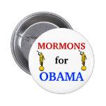 Mormones para el botón de Obama 2012 Pin
