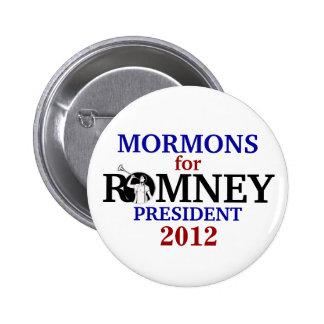 Mormones para Romney 2012 Pin