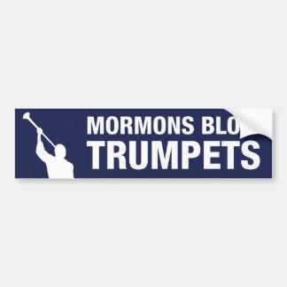 Mormons Blow Trumpets Bumper Sticker