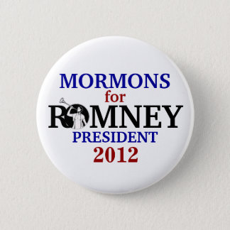 Mormons for Romney 2012 Pinback Button
