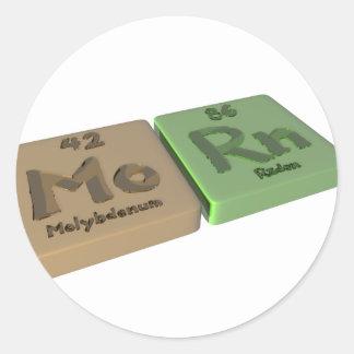 Morn as Mo Molybdenum and Th Thorium Classic Round Sticker