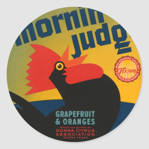 Mornin Judge Grapefruit and Oranges Stickers