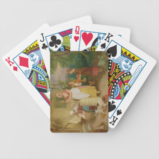 Morning 1799 oil on canvas bicycle playing cards