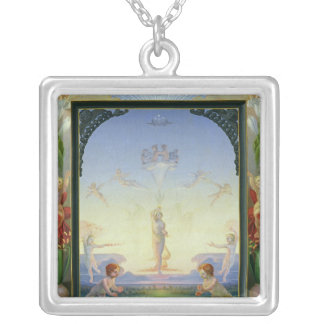 Morning, 1808 silver plated necklace