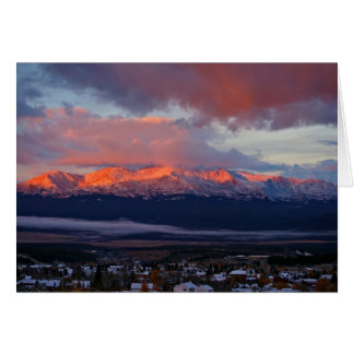 Morning Alpenglow: Mt Massive Card