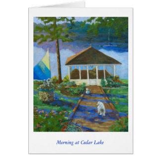 Morning at Cedar Lake Card