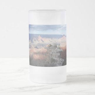 morning at Grand Canyon Frosted Glass Beer Mug