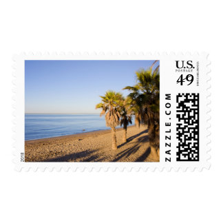 Morning at Marbella Beach in Spain Postage Stamp