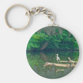 Morning at the Creek Keychain