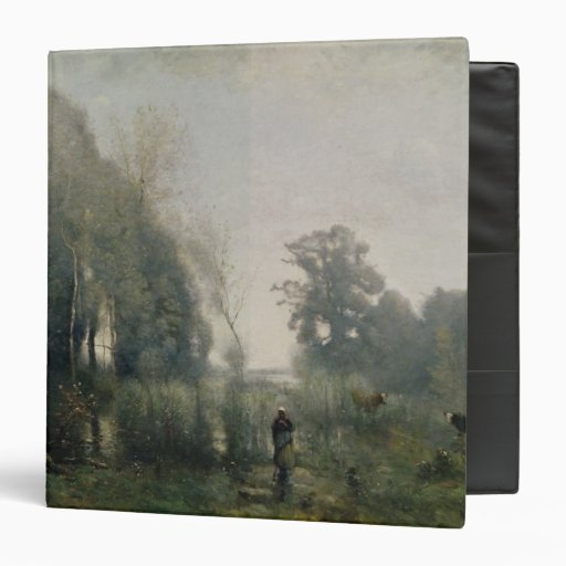 Morning at Ville-d'Avray or, The Cowherd, 1868 Vinyl Binder
