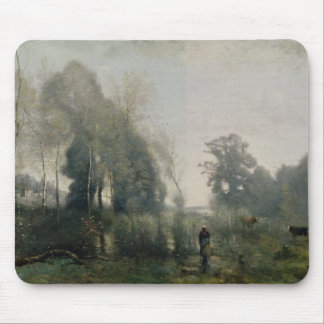 Morning at Ville-d'Avray or, The Cowherd, 1868 Mouse Pad